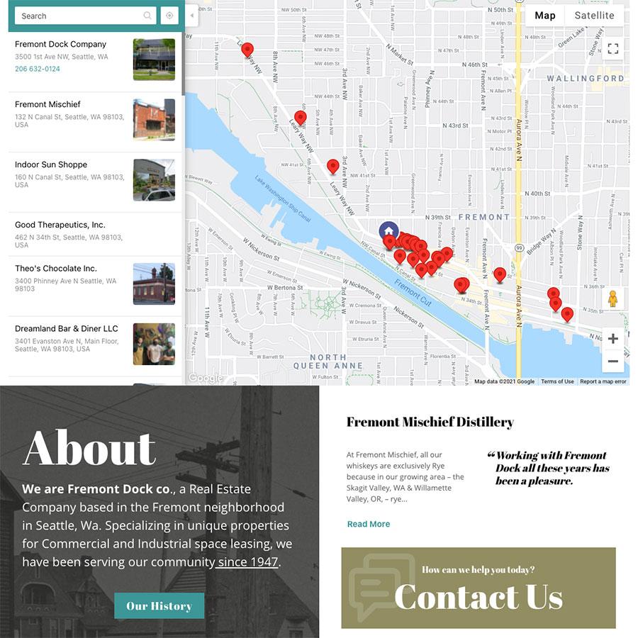 Fremont properties location map.